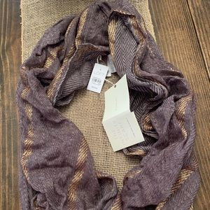 Purple & gold Infinity Scarf